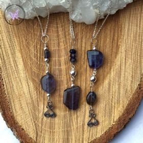 Iolite & Silver Pendant Necklace